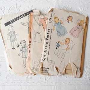 40s Patterns : Layette, Suit, Sleeping Bag...